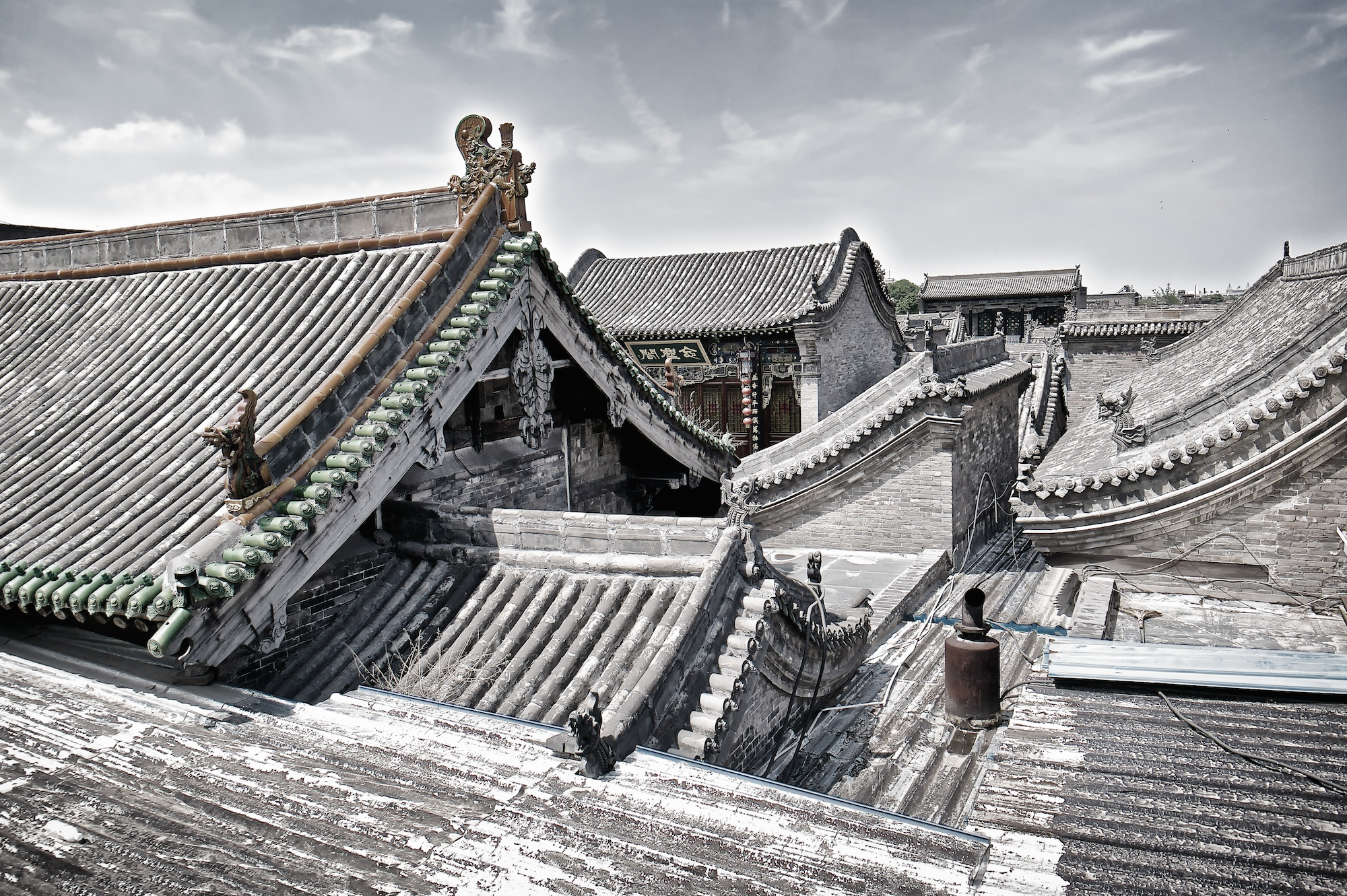 View over the magnidicent old Pingyao in Shanxi
